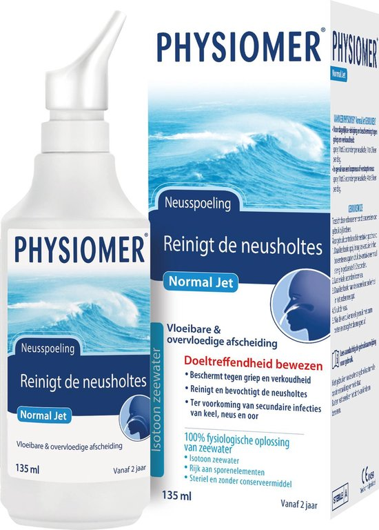 Physiomer Normal Jet - Neusspray bij verkoudheid - 135 ml
