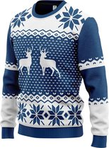 JAP Foute kersttrui - Classic One - Kerst - Dames en heren - Kerstcadeau volwassenen - M - Blauw