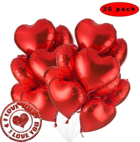 Helium Ballon Hart 45cm gevuld