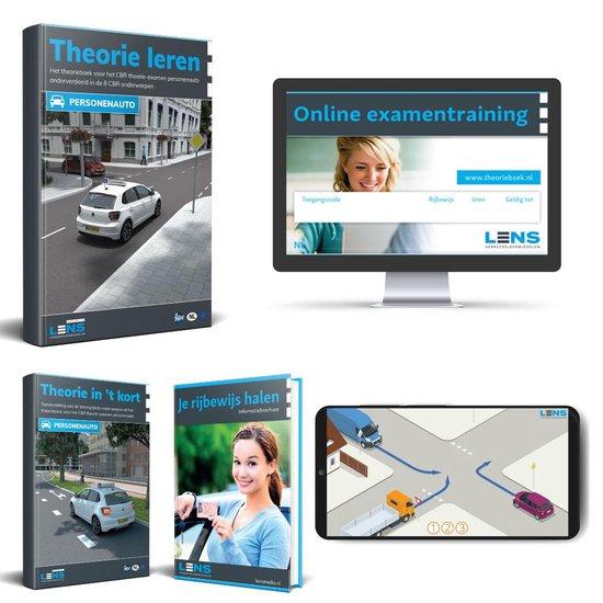 Boek cover Theorieboek Rijbewijs B 2021 Auto met 500 Oefenvragen + 50 Online Oefenexamens - Samenvatting - CBR Auto Theorie Leren Rijbewijs B 2021 - Lens Media van Lens Verkeersleermiddelen (Voordeeleditie)