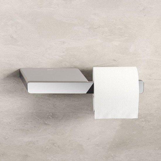Geesa Shift Toiletrolhouder zonder klep met planchet Chroom