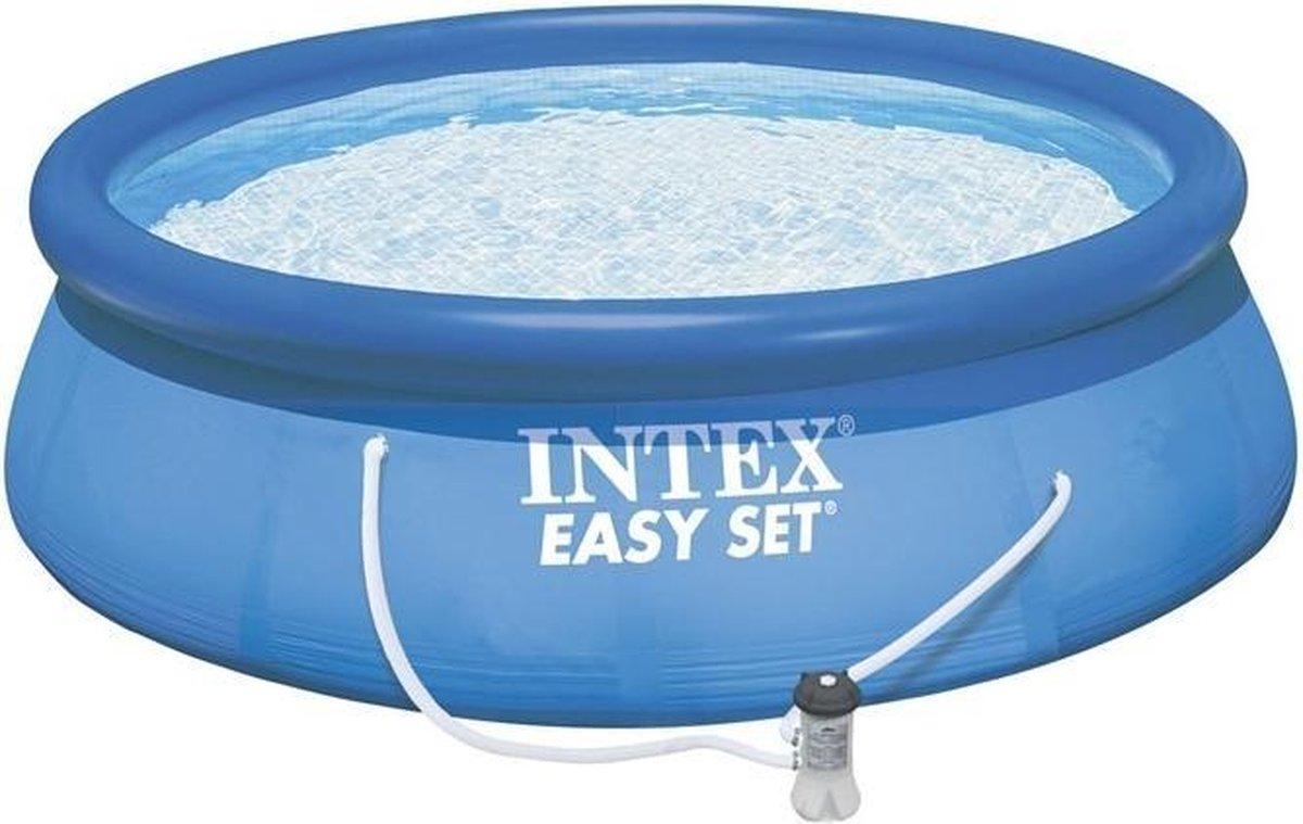 opblaaszwembad met pomp 28122GN Easy 305 x 76 cm blauw
