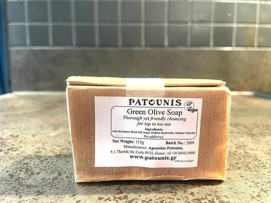 Pure Health Store - Patounis Groene olijfzeep - voor iedereen - voor lichaam en haar