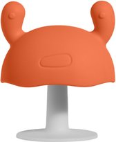 Monno®  Paddenstoel Bijtring/Speen - Baby Speelgoed - Kinderservies - Bijtspeelgoed Baby - 100% BPA Vrij - Oranje