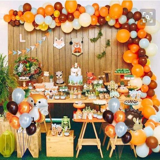 MagieQ  Woodland Herfst Decoratie Ballonnenboog – Halloween Ballonnen verjaardag - Helium, Latex, Folie – Versiering- Babyshower – Verjaardag –  Feest Decoratie