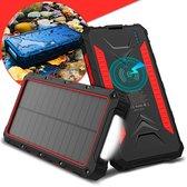 Greath® Solar Powerbank 20000mAh - Geschikt voor Iphone en Samsung - Zonne-energie - Shockproof - USB C - Kamperen