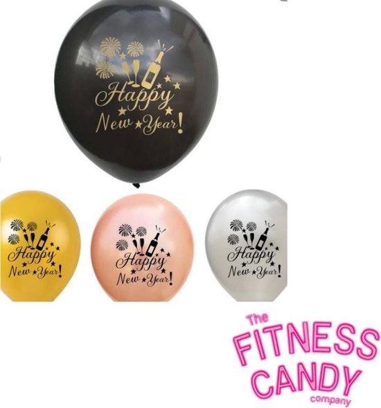 Oud en Nieuw ballonnen - Set van 6 [Champagne / Glaasjes]
