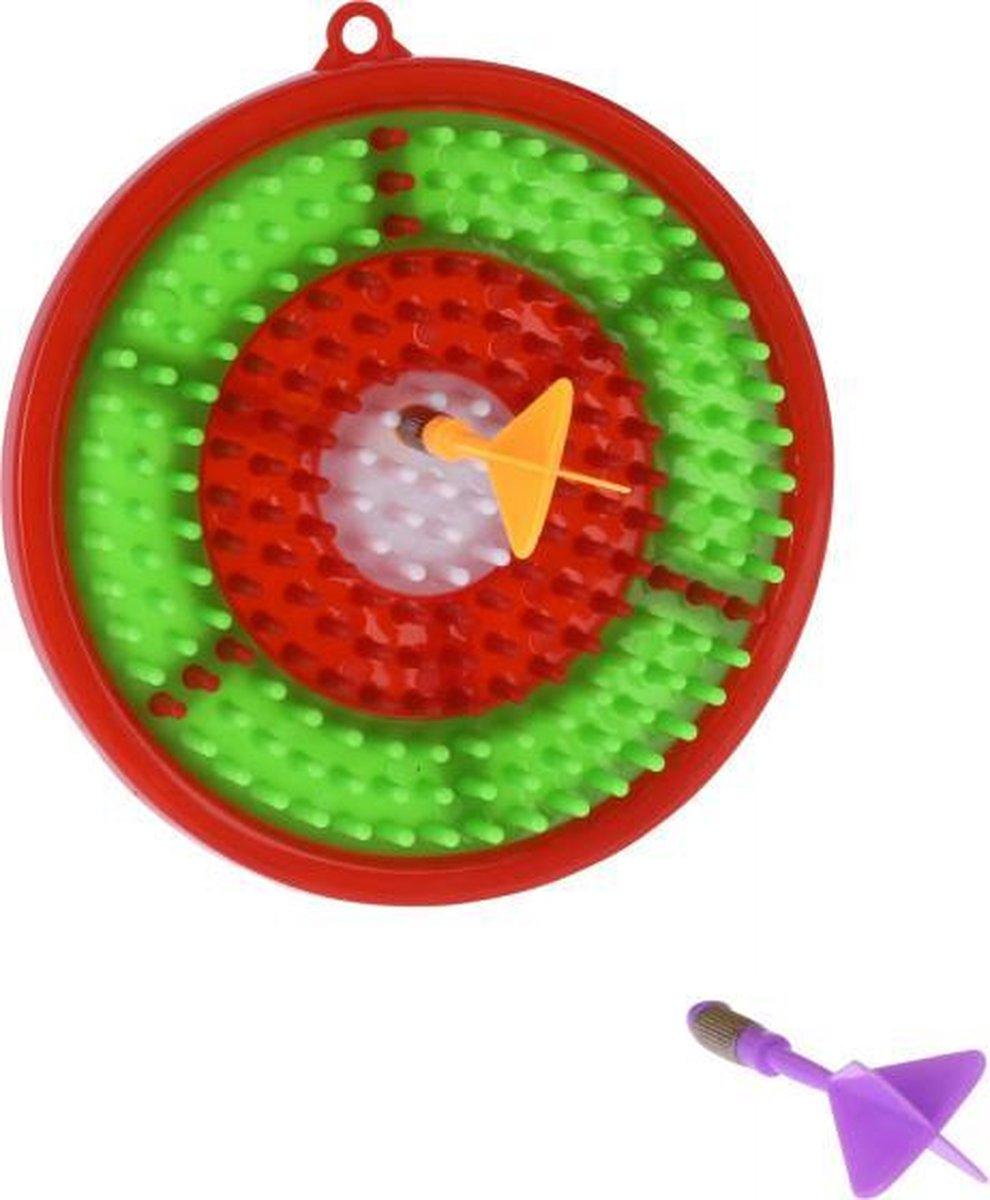 dartbordset junior 16,1 cm rood/groen 3-delig