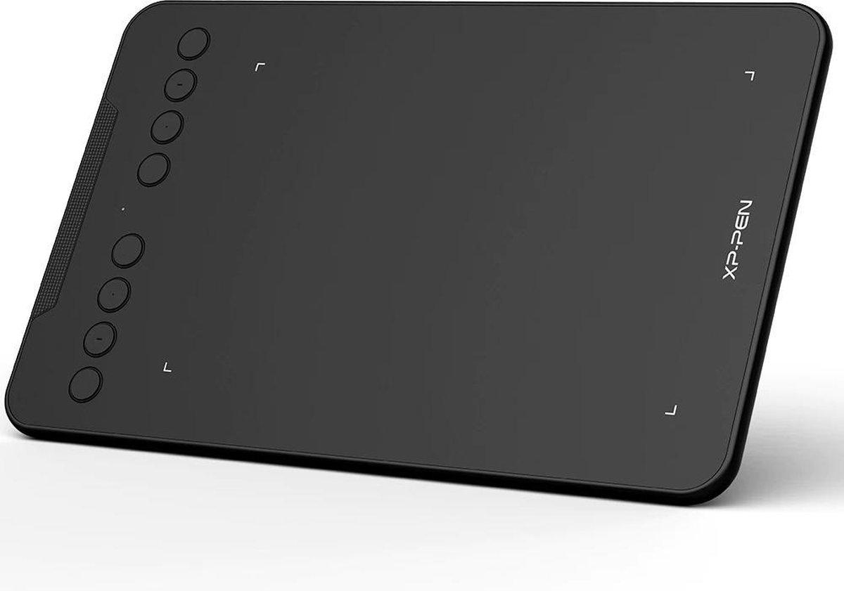 LORIOTH® Tekentablet - Grafische Tablet - Digitale Tekentablet - Inclusief Stylus - 7x4 inch - USB-C - Zwart