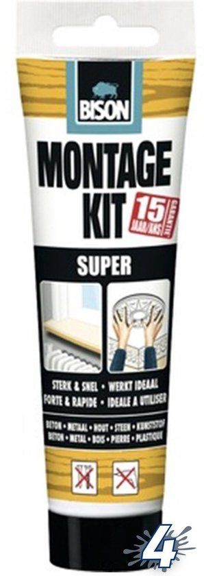 Montagekit Super 200 g - Wit