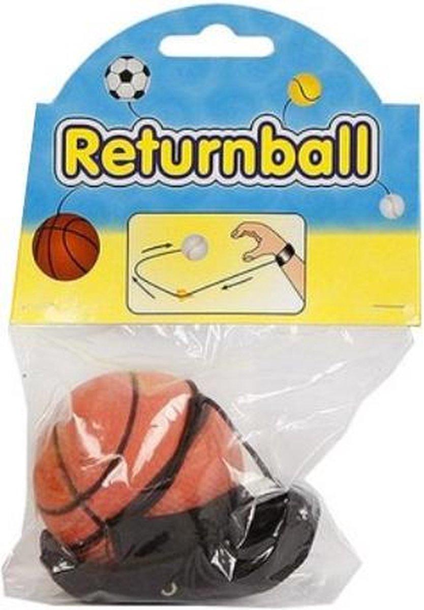 terugkaatsbal basktetbal junior 6 cm schuim oranje