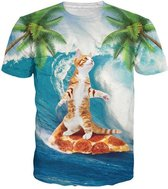 Pizza kat surfer festival shirt XL Crew neck
