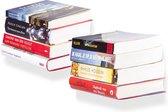 Boekenplank zwevend | Set van 2 | Onzichtbare Boekenplank | Wit staal| Incl. bevestigingsmateriaal