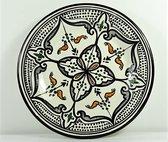 Handgemaakte en handbeschilderde authentieke Marokkaanse bord 24 cm