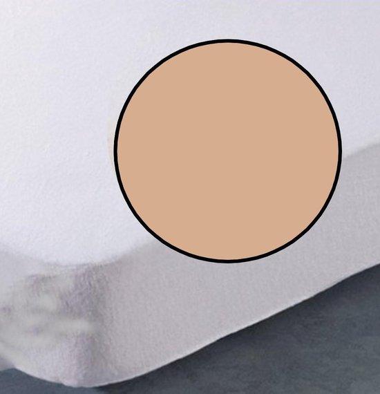 ECB Hoeslaken - Jersey - 120 x 200 cm - Zand