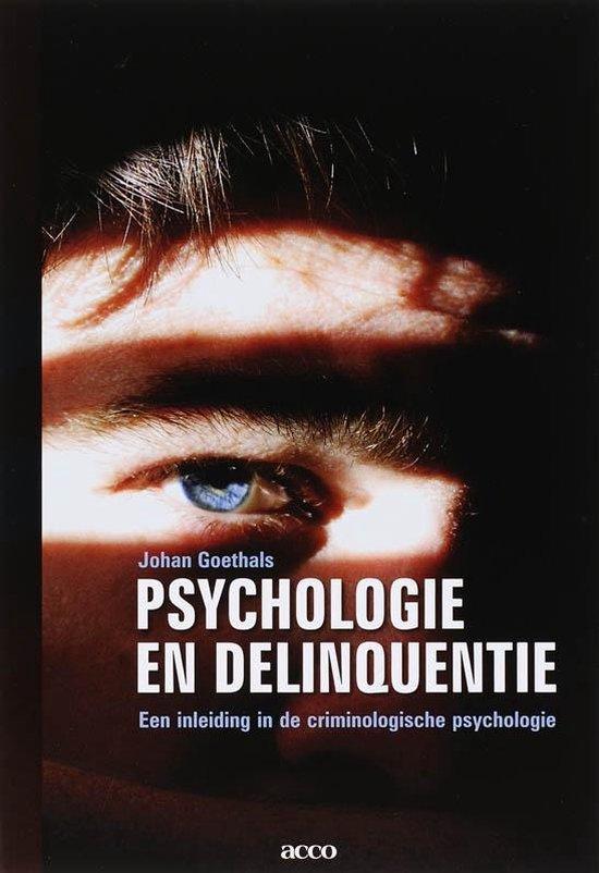 Psychologie en delinquentie - J. Goethals  