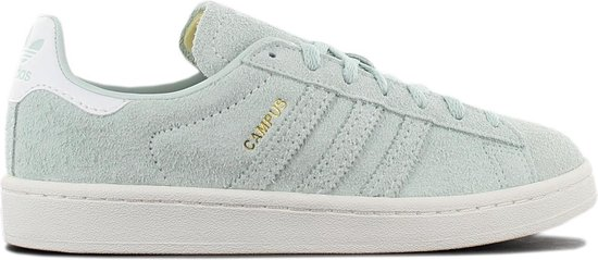 adidas Originals Campus Leather W B37937 Dames Sneakers Sportschoenen  Schoenen Groen - Maat EU 37 1/3 UK 4.5