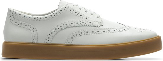 Clarks - Herenschoenen - Hero Limit - G - white leather - maat 8,5