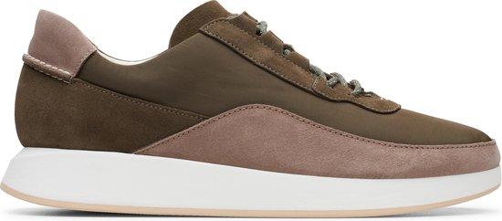 Clarks Originals Kiowa Pace Heren Sneakers - Olive Combi - Maat 43