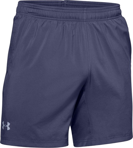 Under Armour Speed Stride 7'' Woven Short Heren Hardloopbroek - Maat S - Blue Ink