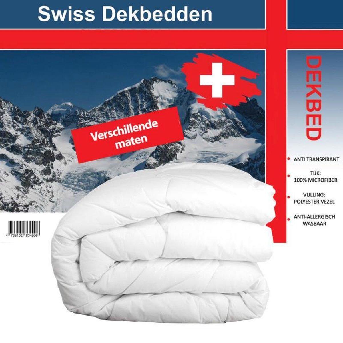 Swiss Dekbed - Tweepersoons Enkel Dekbed - 200x200cm - Hotel kwaliteit