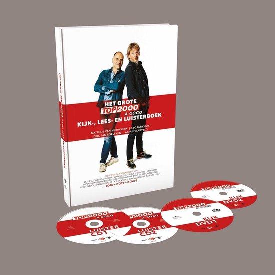 CD cover van Het Grote Top 2000 a Gogo kijk-, lees-, en luisterboek van Mathijs van Nieuwkerk