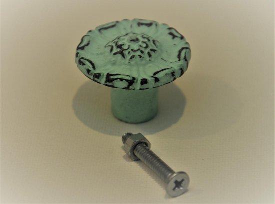 Kastknop, Vintage, Mint Groen, VK2M, per 3 verpakt