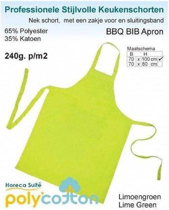 Schort Bib Apron Horeca Lemon groen per 2 stuks - 70x100