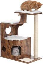 -Nancy's Luxe Krabpaal Kat Bruin - Krabpaal Voor Katten 88 CM-aanbieding