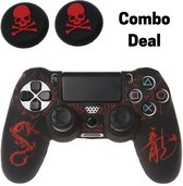 PS4 Controller Silicone Hoes Playstation 4 - Dragon Red laser - KELERINO.