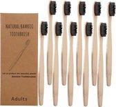 Bamboe tandenborstel (zacht) | 4 stuks |Natural Bamboo | Gratis verzending | Bamboo tandenborstel | 100% BPA-vrij | natuurlijk afbreekbaar | Zwart
