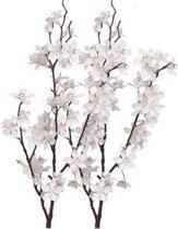 2x Witteappelbloesem tak 84 cm  - kunstbloemen