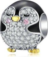 Zilveren bedel Baby pinguïn