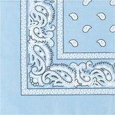Bandana Paisley lichtblauw licht blauw - 100% katoen - light blue - Cotton - zakdoek - hoofdband - sjaaltje - accessoire - carnaval