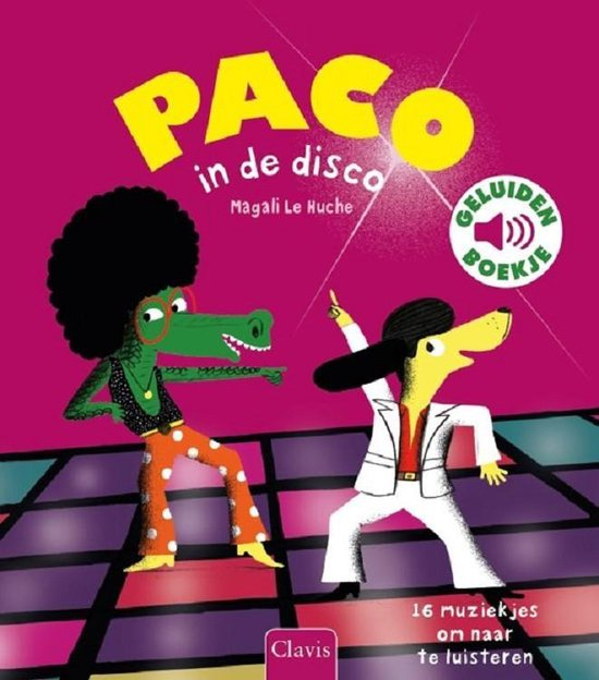 Boek cover Paco in de disco van Magali Huche