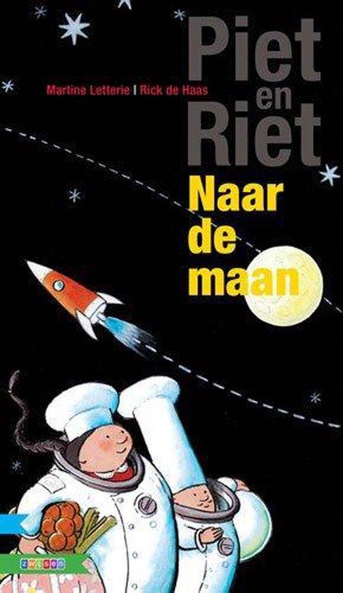 Maan roos vis AVI meegroeiboek  -   Naar de maan: Piet en Riet