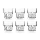 Libbey Drinkglas Everest Rocks - 266 ml / 26,6 cl - set van 6 - stapelbaar - hoge kwaliteit - vaatwasserbestendig