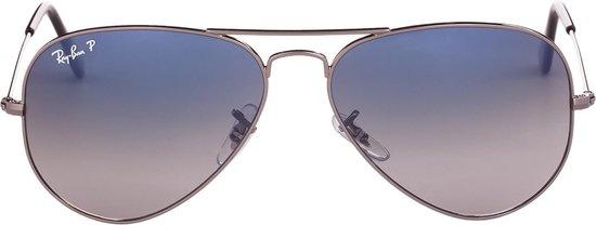 Ray-Ban RB3025 004/78 - Aviator (Gradient) - zonnebril - Staalgrijs / Blauw/Grijs Gradiënt - Gepolariseerd - 58mm - Ray-Ban