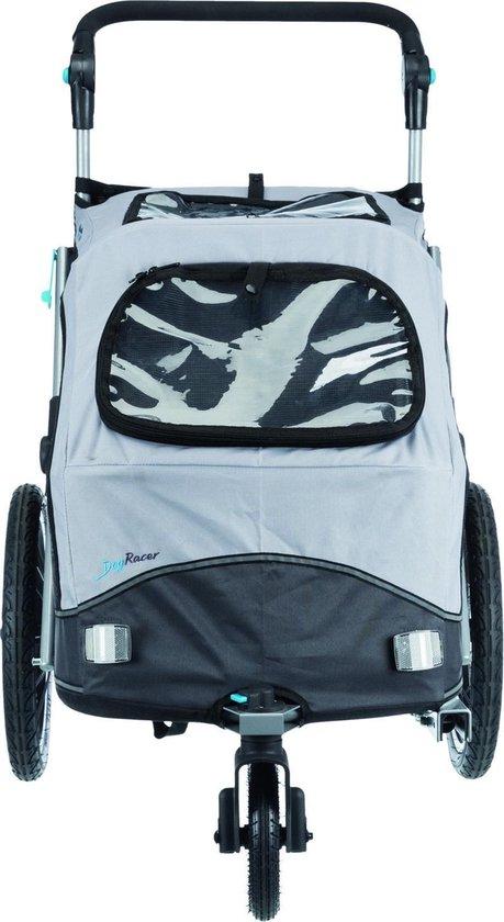 Trixie hondenfietskar opvouwbaar grijs 90x63x95 cm