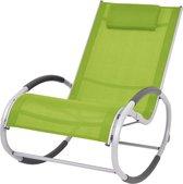 vidaXL Tuinschommelstoel textileen groen