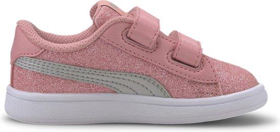 bol.com | Puma Sneakers - Maat 23 - Meisjes - roze/grijs
