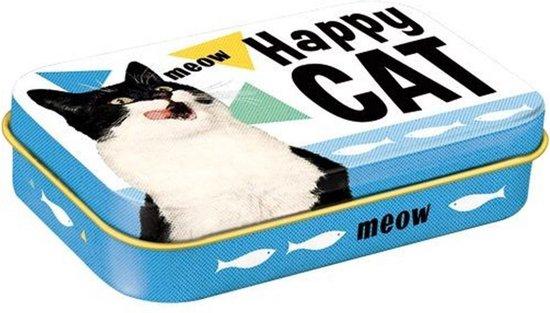 Happy Cat Tinnen Opbergdoosje