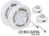 Kast / Bed LED verlichting- 2x strip met bewegingssensor - Warm Wit