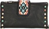 MicMacbags New Navajo Dames Ritsportemonnee Zwart