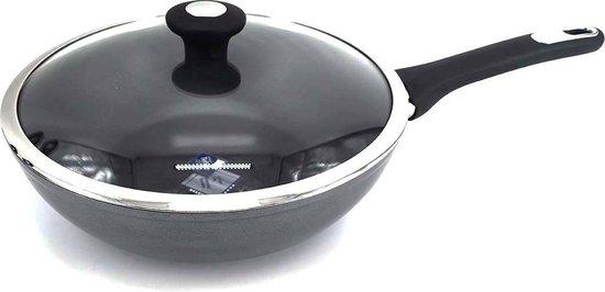 Thomas wok met antiaanbaklaag en glazen deksel - 28cm