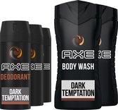Axe Dark Temptation Geschenkset - Deodorant en Douchegel - Voordeelverpakking