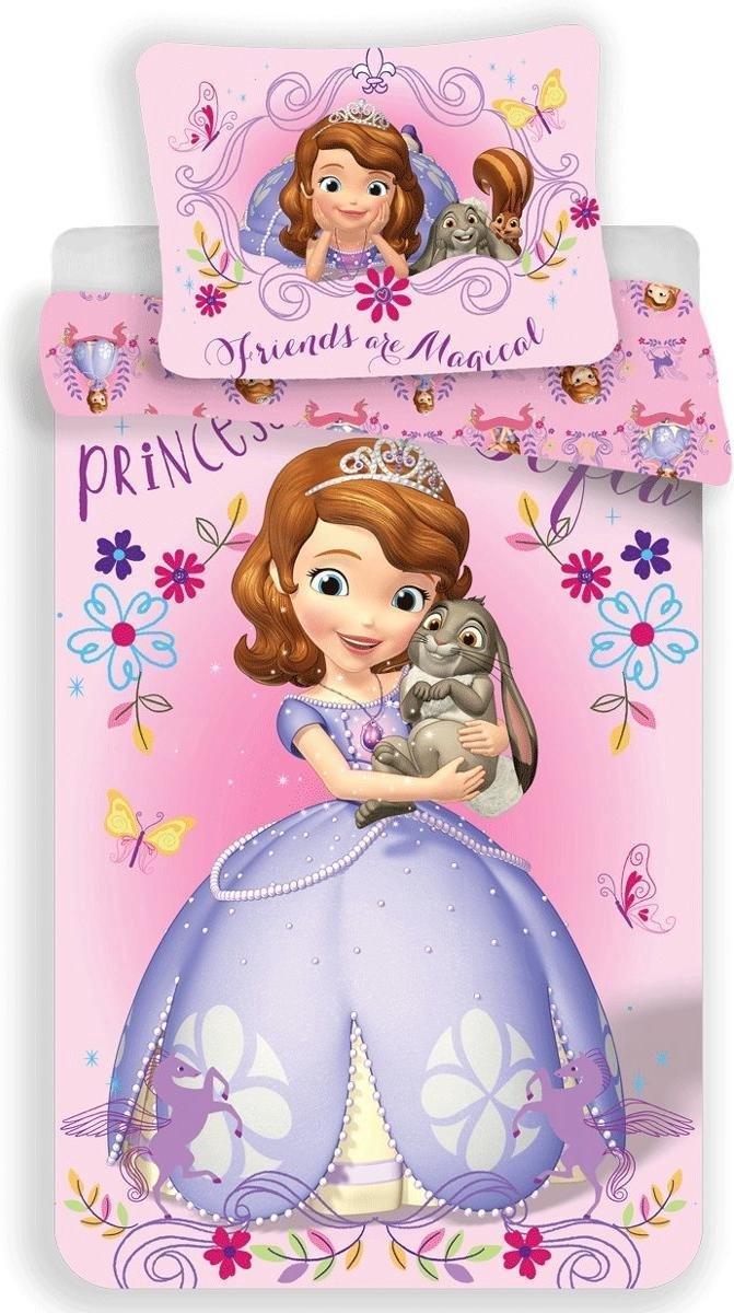 Dekbedovertrek- Disney Sofia The First Magic- Eenpersoons- 140x200 cm - Roze kopen