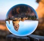 Glazen Bol - Fotografie - 8 CM - Kristallen bal - Doorzichtig - Lensball - Fluweel Verpakt