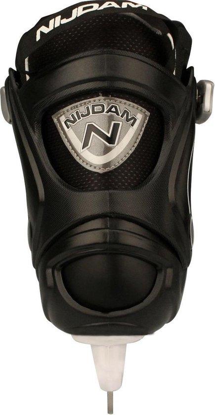 Nijdam 3150 Junior IJshockeyschaats - Verstelbaar - Semi-Softboot - Zwart/Wit - Maat 38-41 - Nijdam