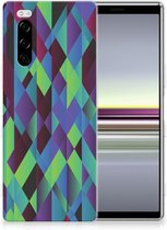 TPU Hoesje Sony Xperia 5 Abstract Green Blue